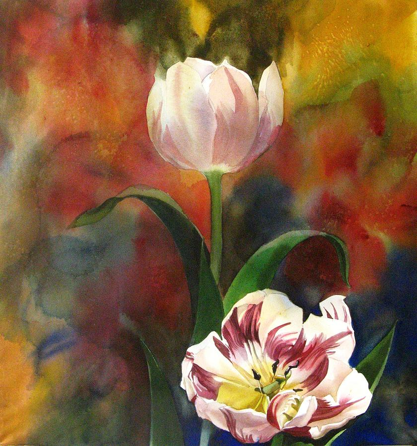 Nature Painting - Tulip Abstraction by Alfred Ng