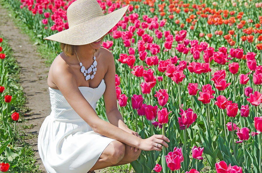 Woman Photograph - Tulip Beauty by Maria Dryfhout