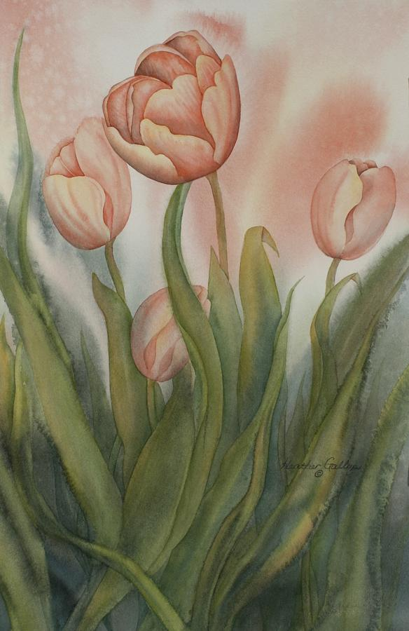 Tulips Painting - Tulip Dance by Heather Gallup