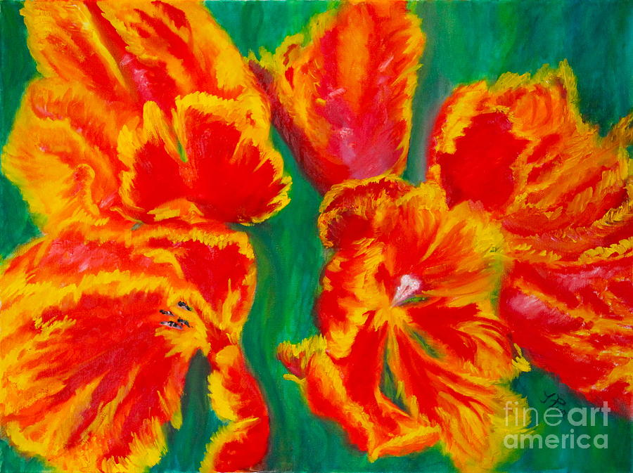 Tulips Painting - Tulip Days by Tracey Peer