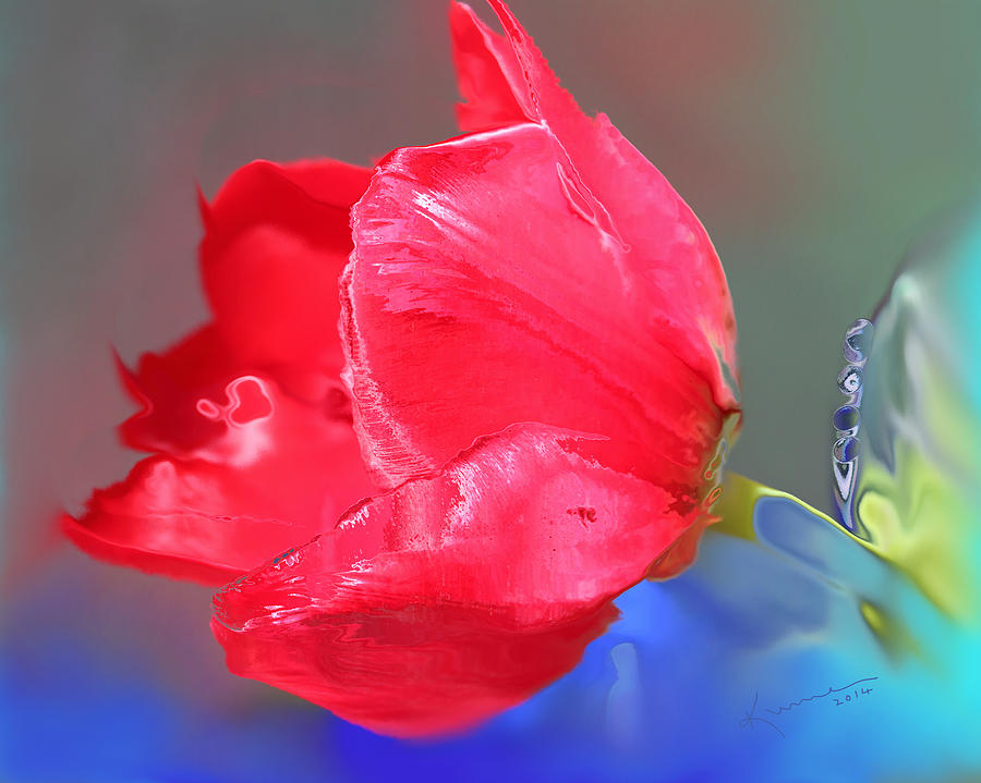 Macro Photograph - Tulip by Kume Bryant