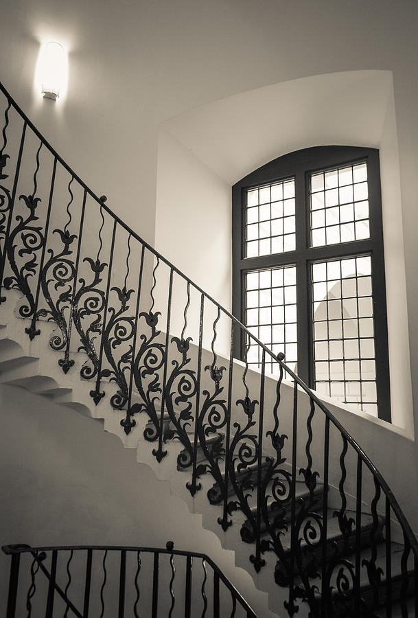 Black Photograph - Tulip Stairs by Ross Henton