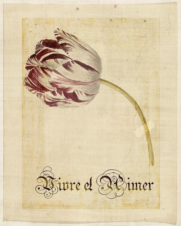 Tulip Digital Art - Tulip - Vivre Et Aimer S02t03tr by Variance Collections