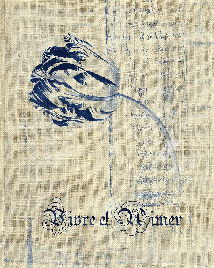 Tulip Digital Art - Tulip - Vivre Et Aimer S04t03t by Variance Collections