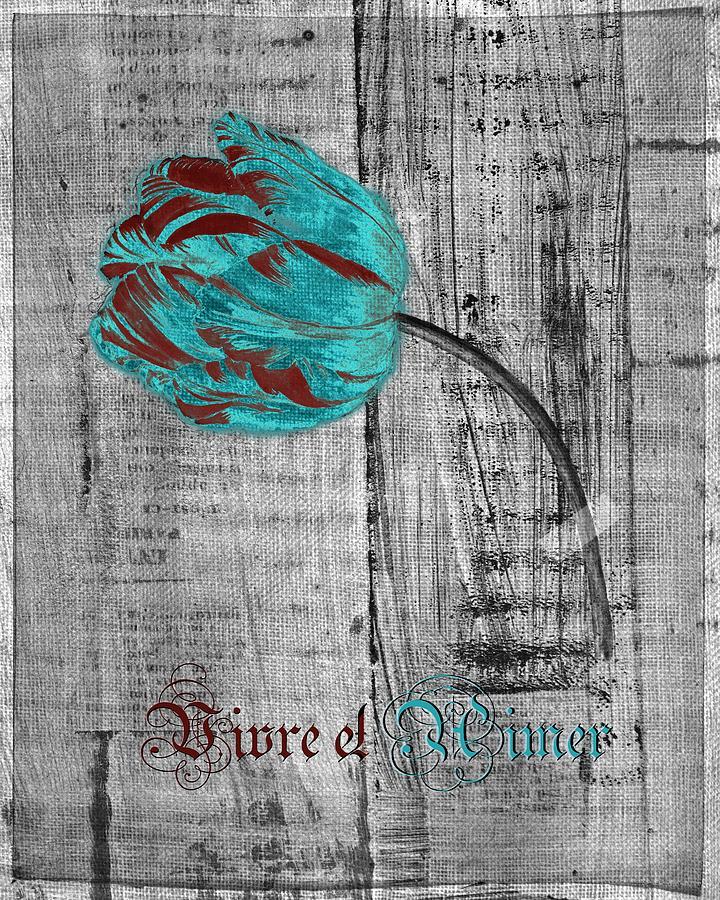 Tulip Digital Art - Tulip - Vivre Et Aimer S12ab4t by Variance Collections