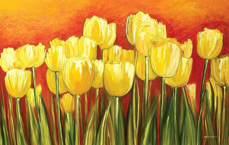 Tulip Painting - Tulips by Ahmed Amir