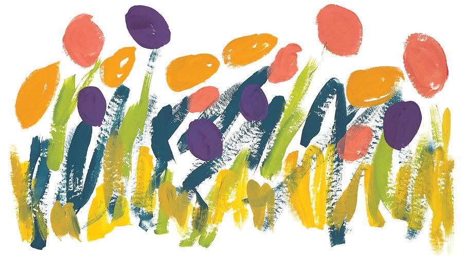 Contemporary Painting - Tulips by Bjorn Sjogren