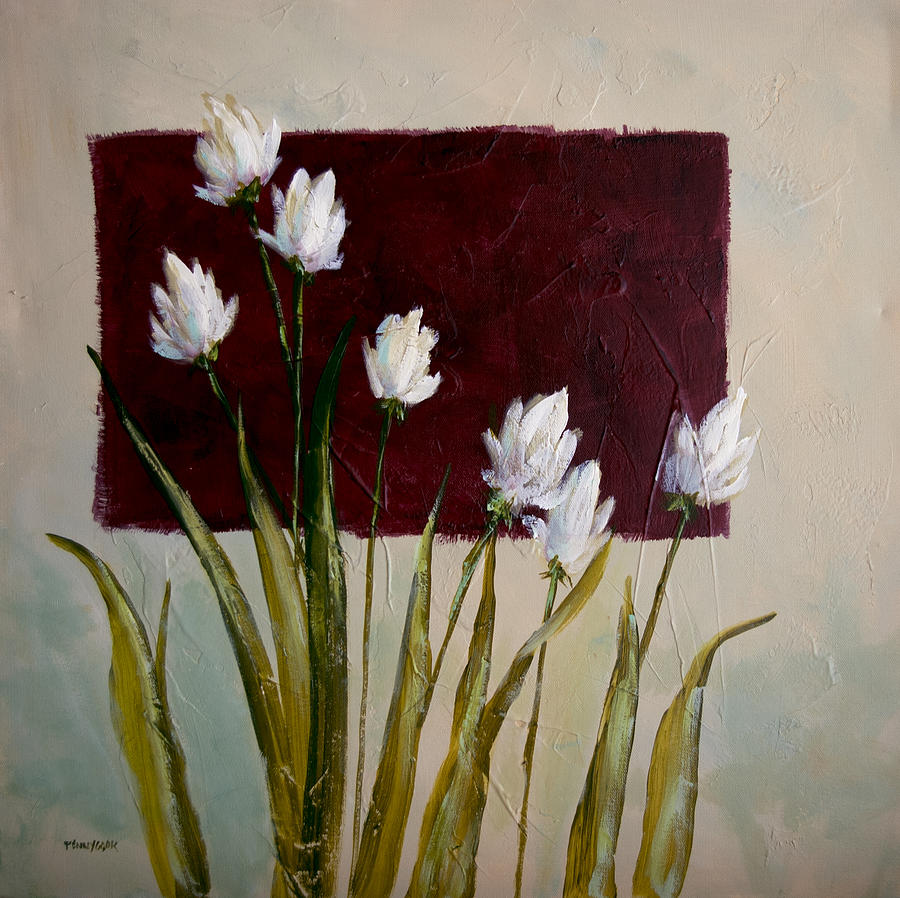 Acrylic Painting - Tulips by Bob Pennycook