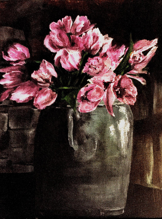 Tulips Painting - Tulips by Dana Patterson