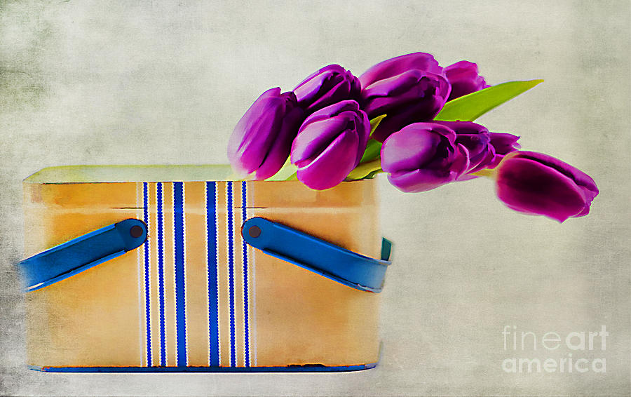 Arrangement Photograph - Tulips For Mom by Darren Fisher