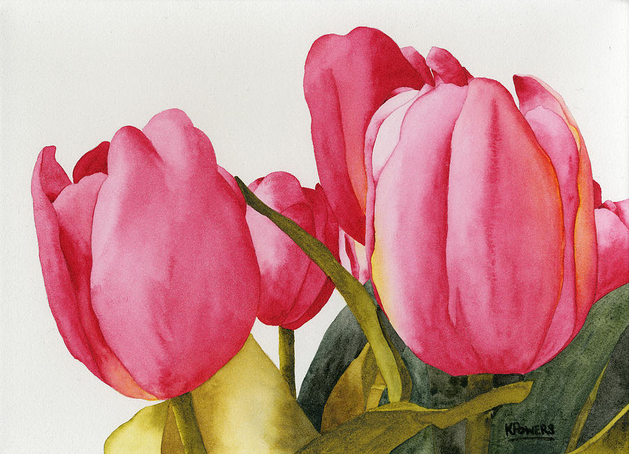 Tulip Painting - Tulips For You by Ken Powers