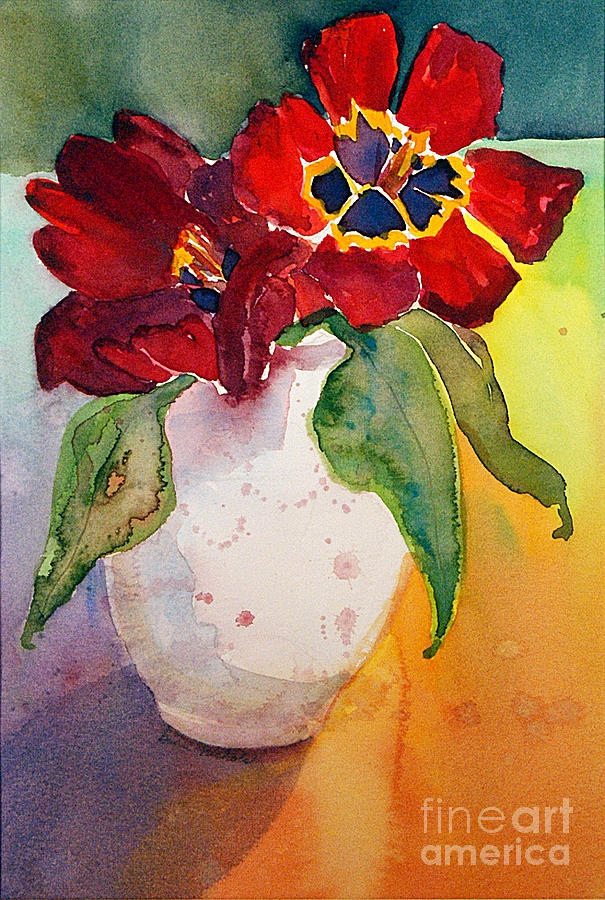 Watercolor Painting - Tulips by Gwen Nichols