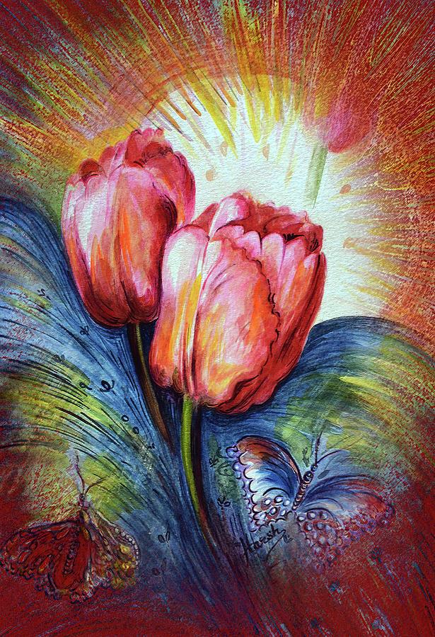 Tulip Painting - Tulips by Harsh Malik