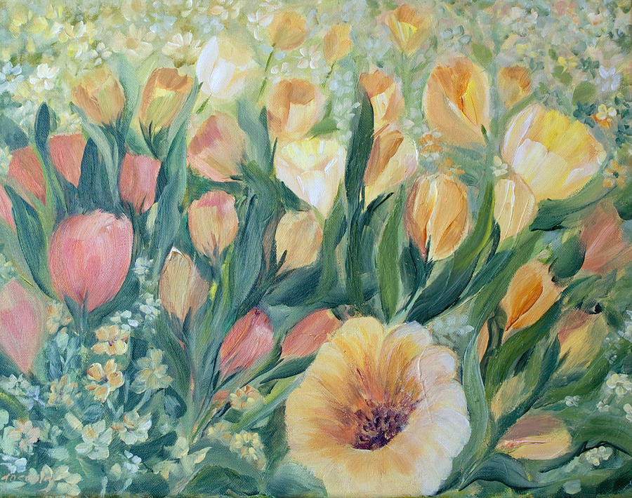 Tulips Painting - Tulips I by Joanne Smoley