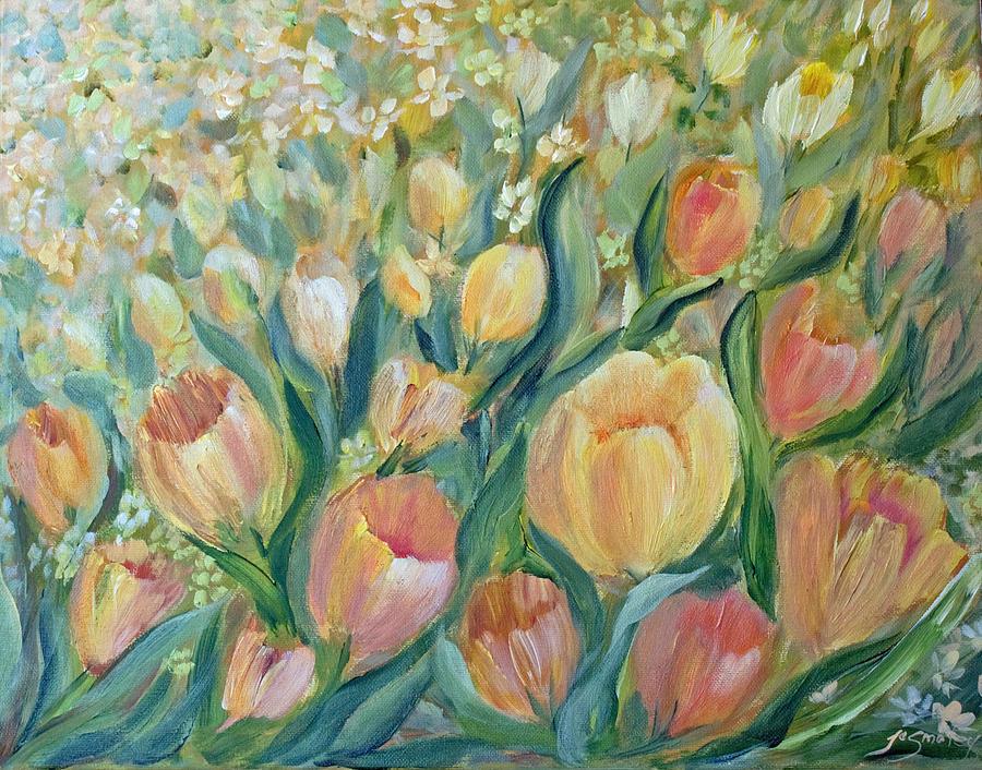 Tulips Painting - Tulips II by Joanne Smoley
