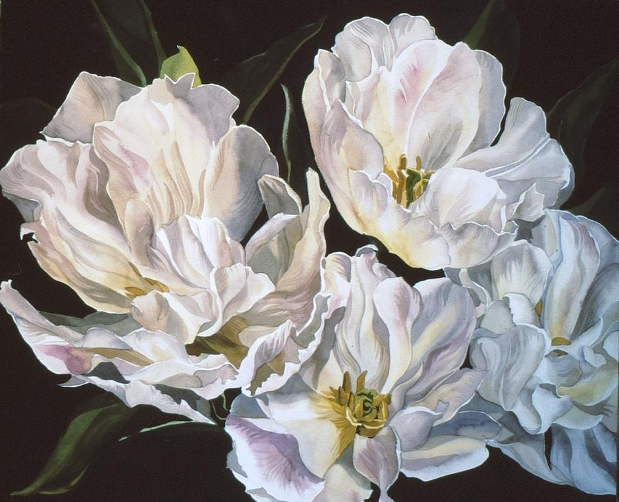 Tulip Painting - Tulips In Spring by Alfred Ng