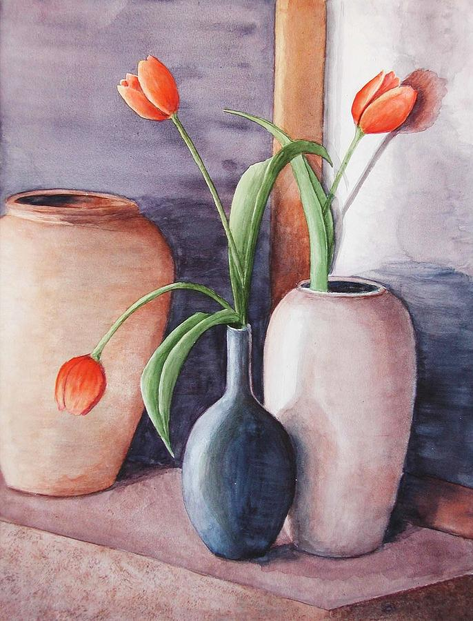 Flowers Painting - Tulips by Laura Sapko