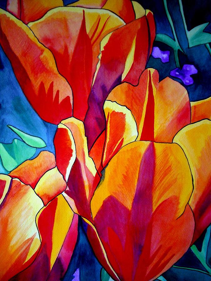 Tulips Painting - Tulips by Sacha Grossel