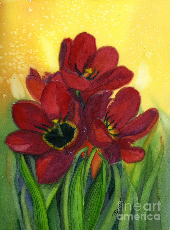 Tulip Painting - Tulips by Teresa Boston