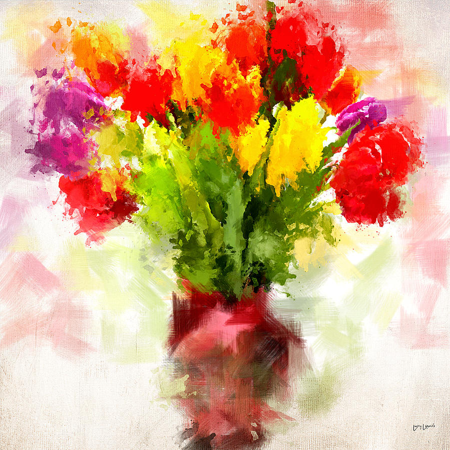 Tulips Digital Art - Tulips With Love by Lourry Legarde
