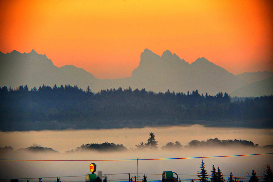 Tully Fog In Everett Photograph by Donald Torgerson