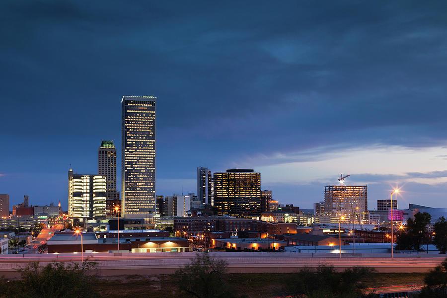 Tulsa, Oklahoma, City View Photograph by Walter Bibikow
