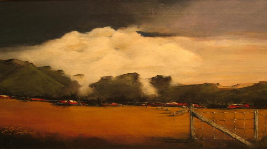 Fineartamerica.com Painting - Tumbling Clouds by Diane Strain