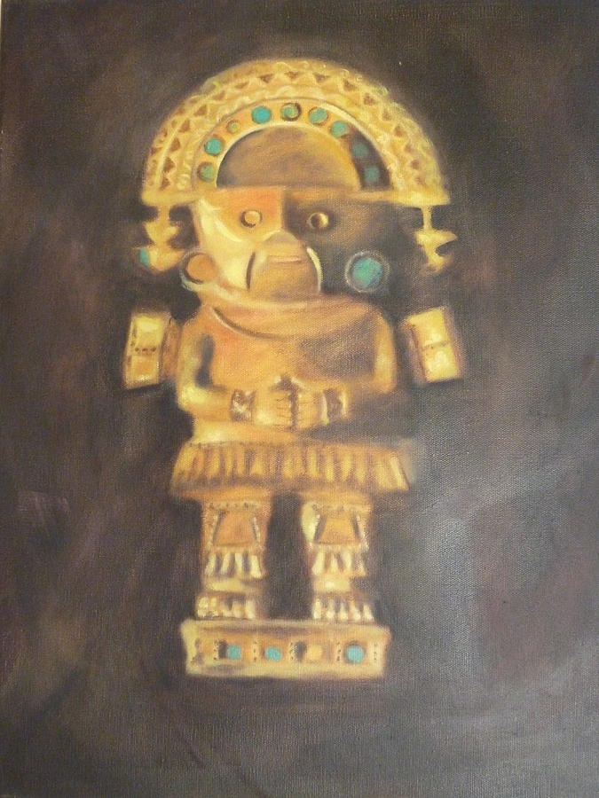 Culture Painting - Tumi by Marie-Pier Guay
