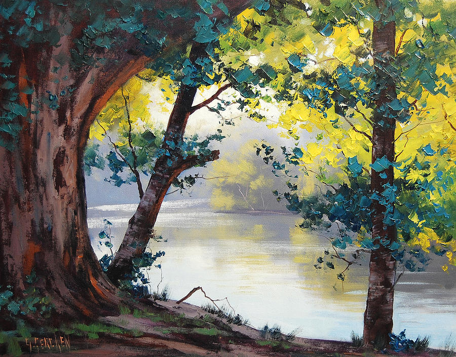 Tumut River Australia Painting by Graham Gercken