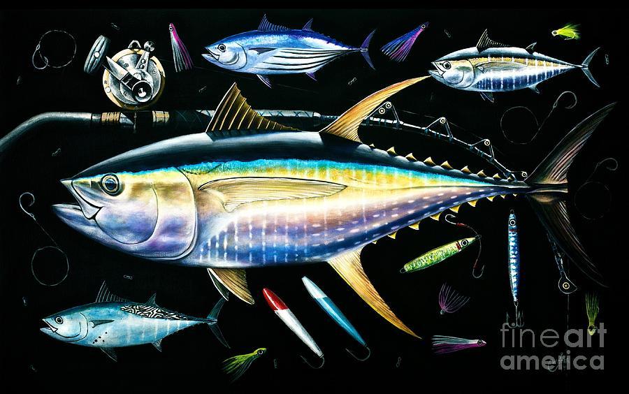 Tuna Painting - Tuna Temptations by Johnny Widmer