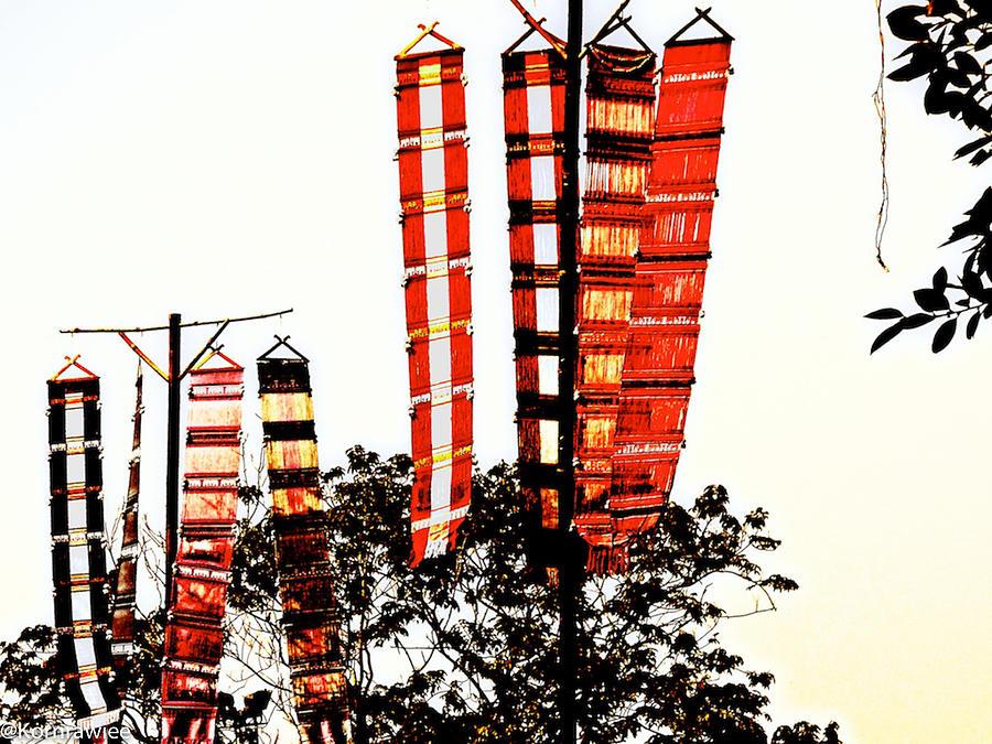 Tung Photograph - Tungs Or Flags by Kornrawiee Miu Miu