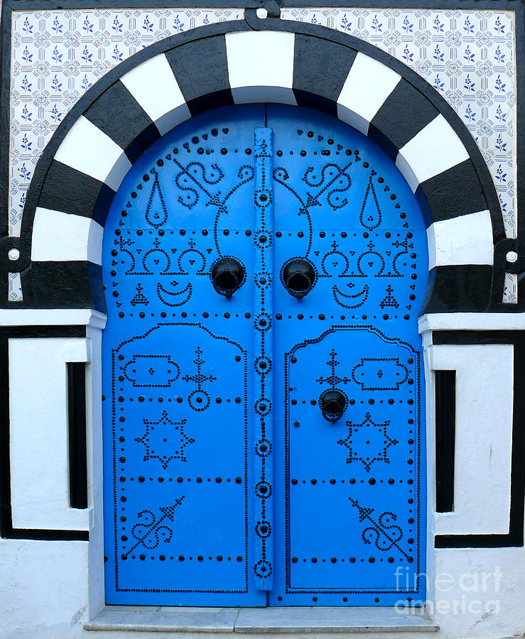Tunisian Blue Door Photograph By Jeanne Woods