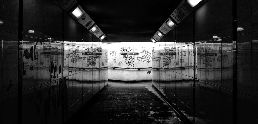 Black And White Photograph - Tunnel by Pedro Fernandez