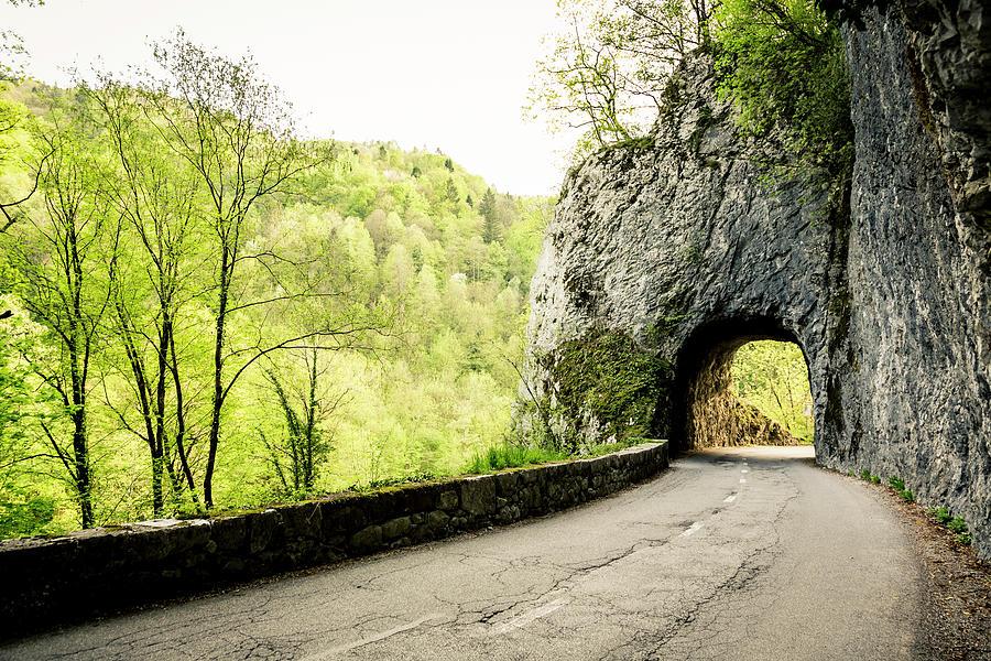 Tunnel Through A Mountainside Photograph by Mauro grigollo