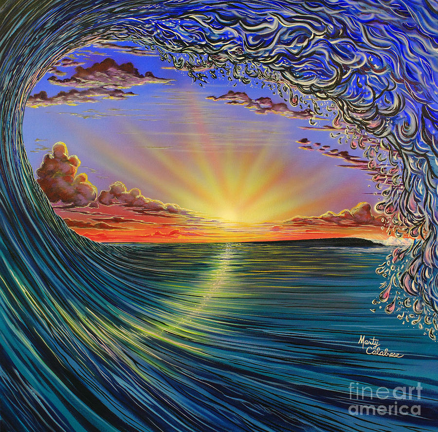 Tunnel Vision Painting By Marty Calabrese