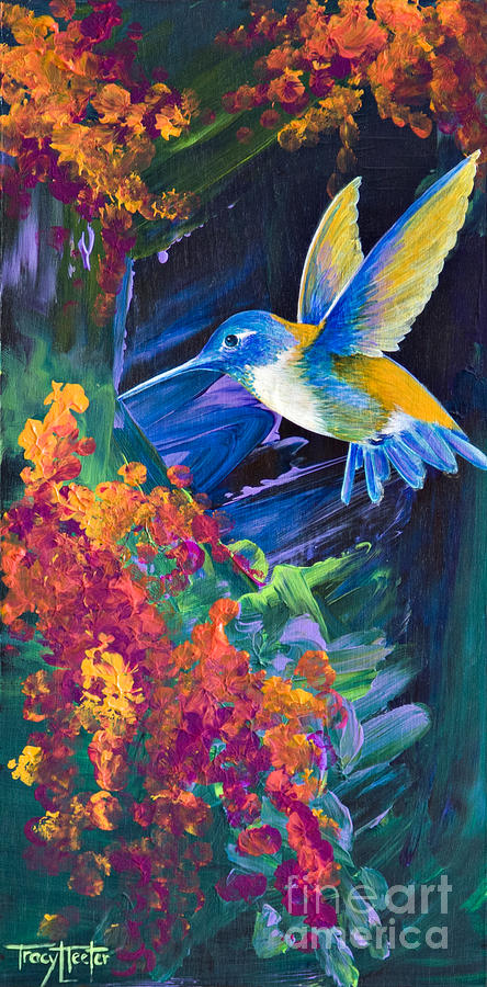 Hummers Painting - Tunnel Vision by Tracy L Teeter