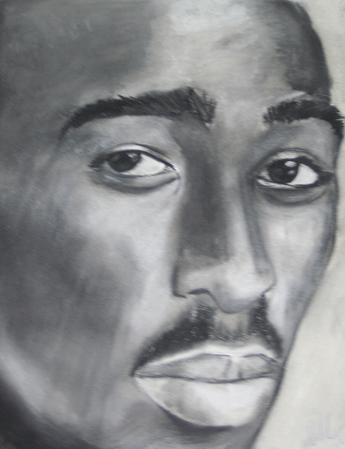 2 Pac Drawing - Tupac by Aaron Balderas