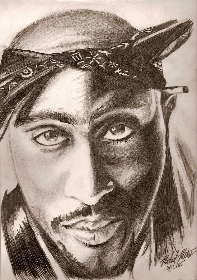 Tupac Shakur Digital Art - Tupac by Michael Mestas