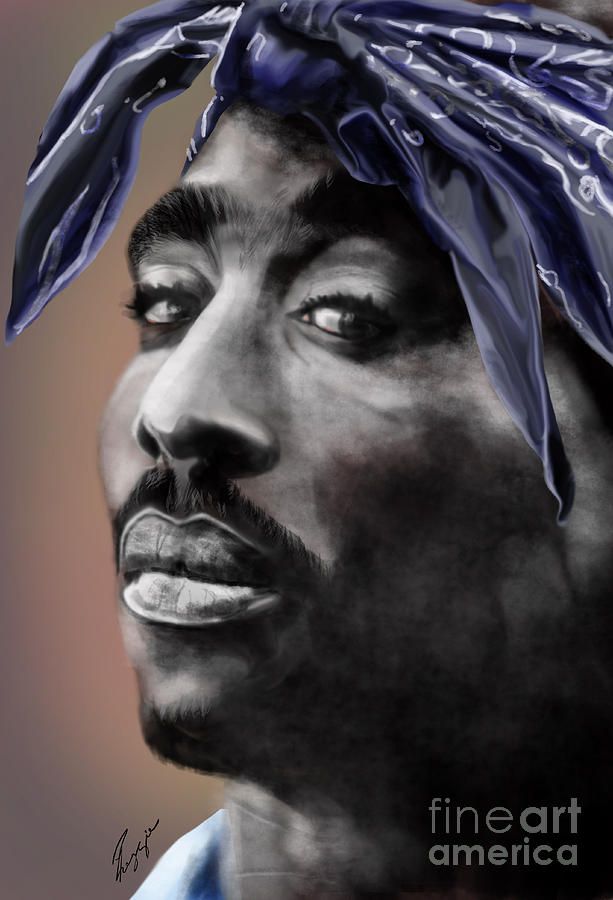 2 Pac Painting - Tupac - The Tip Of The Iceberg  by Reggie Duffie