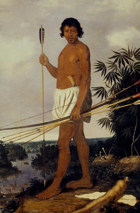 Tupinamba Native Indian Man Of Brazil Painting By Granger