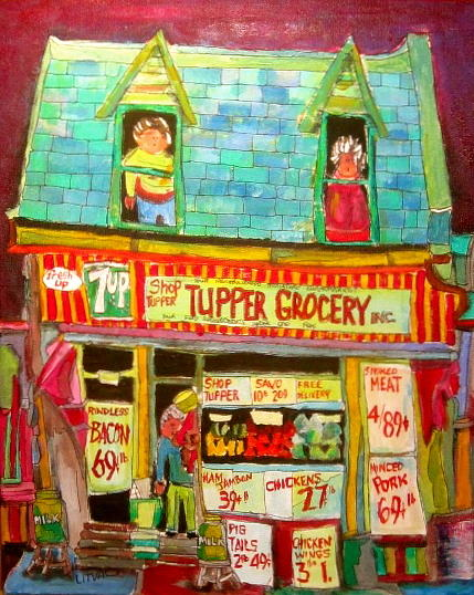 Storefront Painting - Tupper Grocery 1960s by Michael Litvack