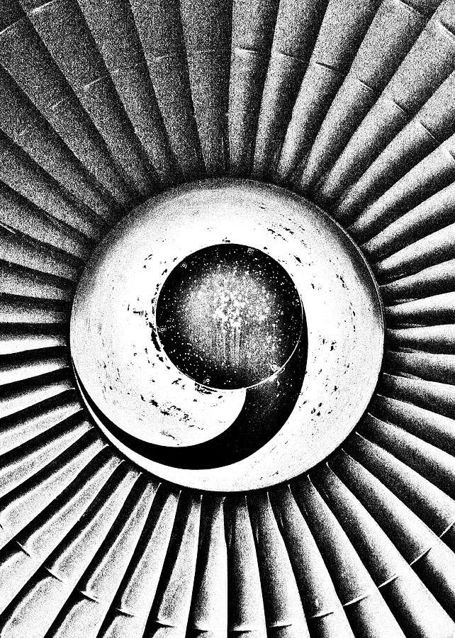 Airplane Photograph - Turbofan by Benjamin Yeager