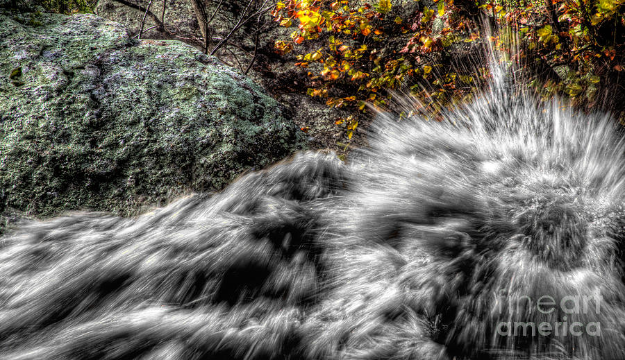 River Photograph - Turbulance  by I Michael W