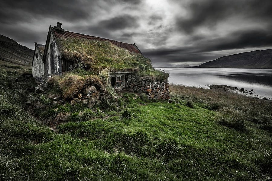 Landscape Photograph - Turf And Stones by Bragi Ingibergsson -
