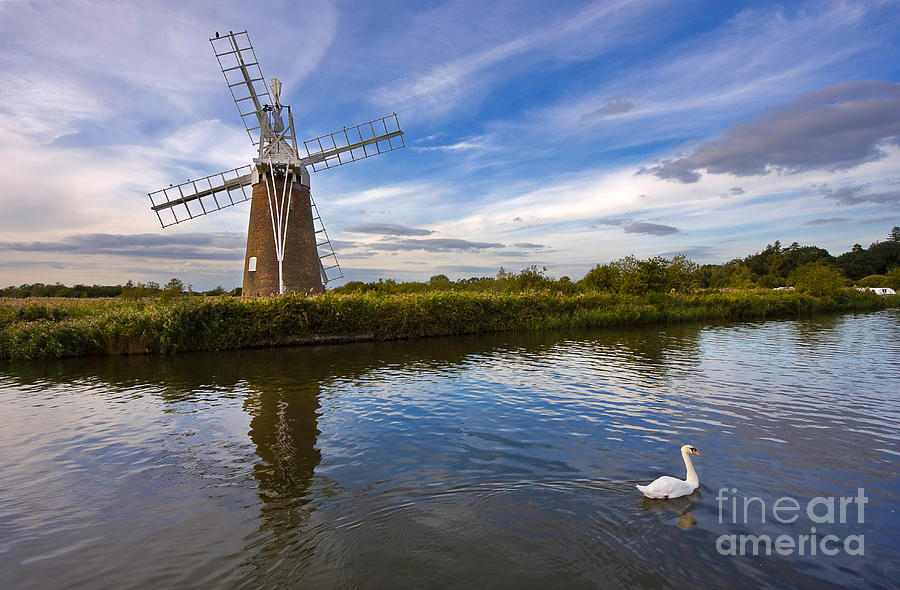 Travel Photograph - Turf Fen Drainage Mill by Louise Heusinkveld