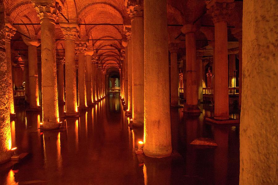 Arch Photograph - Turkey, Istanbul The Basilica Cistern by Emily Wilson