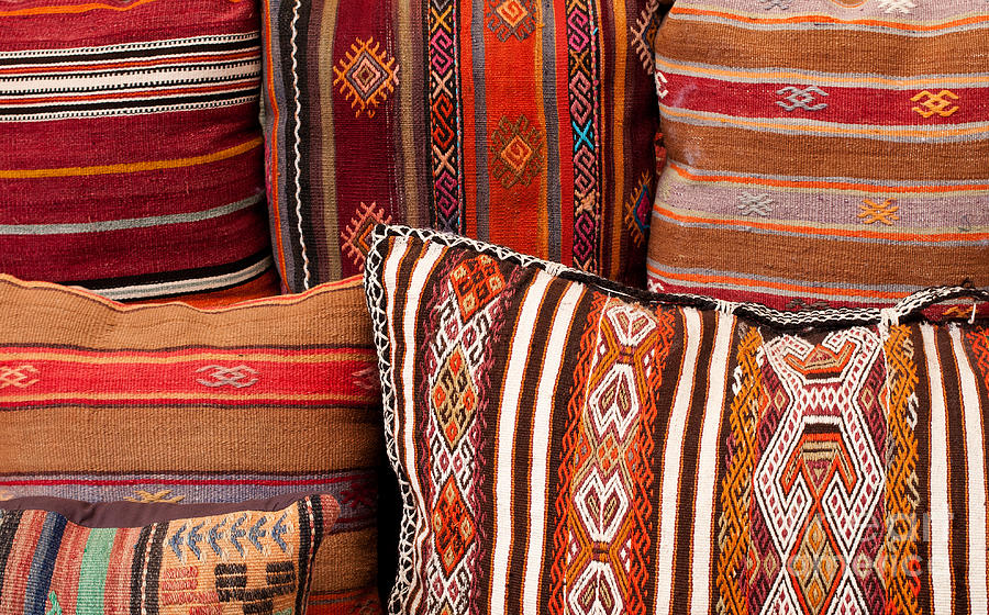 Traditional Photograph - Turkish Cushions 01 by Rick Piper Photography