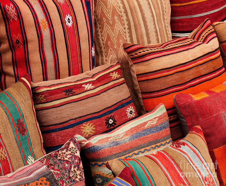 Traditional Photograph - Turkish Cushions 02 by Rick Piper Photography