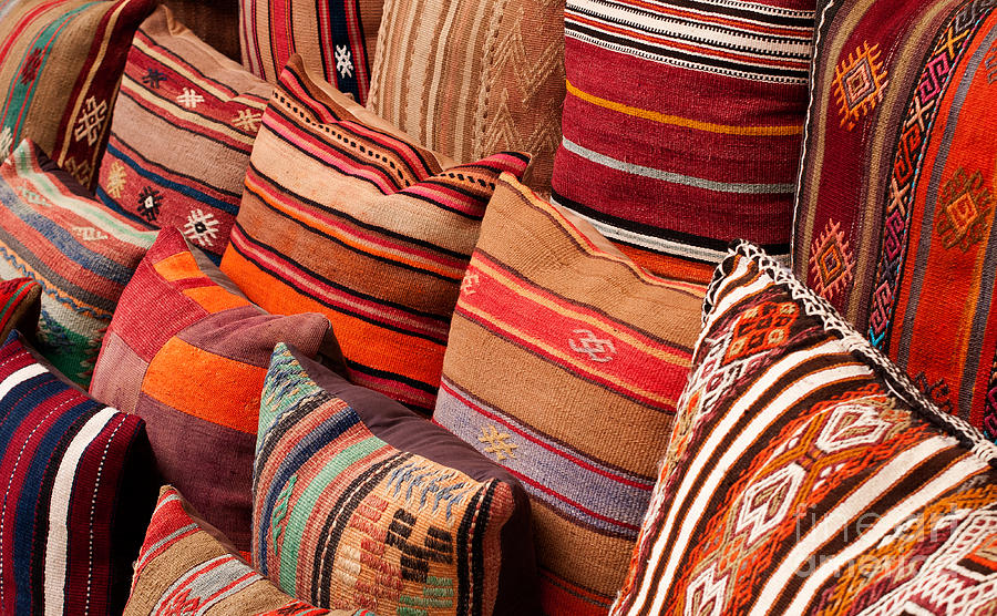 Traditional Photograph - Turkish Cushions 03 by Rick Piper Photography