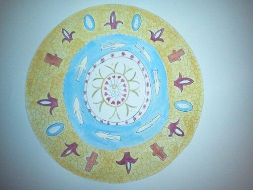 Fish Painting - Turkish Plate by Karen Jensen